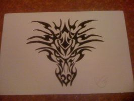 Tribal Dragon, inked. by soifonsama
