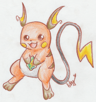 .Raichu with thunderstone. by Ishisu