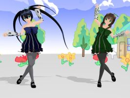 MMD BRS and Dead Master Colorful x Melody DL by MaiCamie09