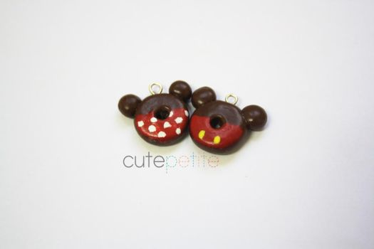 Mickey and Minnie Mouse Donuts by CutePetite