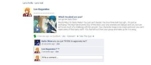 Vocaloid Facebook: Quizzes by NessSophie