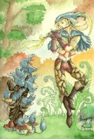 pied piper - watercolored by marianus