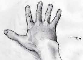 My hand by kennersart