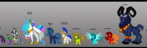 MLP characters color study by Animewave-Neo