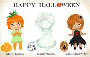 Happy Halloween chibi's by Nakario