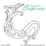 Serpy the Serperior (Outline) by 101DalmatiansWiki