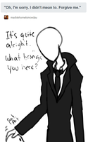 Slenderman - Didn't Mean to Startle You by EuchredEuthanasia