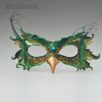 Peafowl Mask by Beadmask