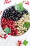 Mixed currants in a bowl by BeKaphoto