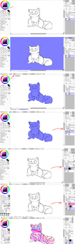 Coloring Tutorial - Paint Tool Sai Only - by Chibi-Eevee