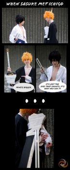 When Sasuke Met Ichigo by 2-of-a-kind