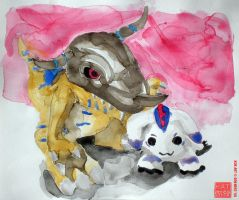 Watercolor Mon by Son-Neko