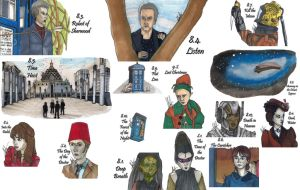 Drawing per Episode-Doctor Who Season 8 by hatoola13