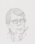 Stephen King Sketch by ArtOfTypH