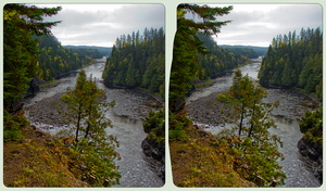 Kaministiquia River 3-D ::: HDR/Raw Cross-Eye-3D by zour