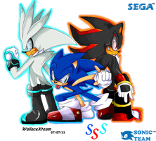Sonic Silver Shadow by wallacexteam