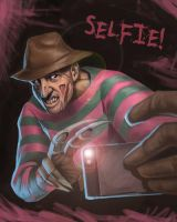 Nightmare on Elm Street Selfie by SketchMonster1