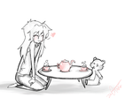 Ryou's Teaparty by Squidbiscuit