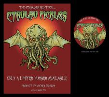Poster and Label for Cthulhu Pickles by Quest007