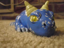Baby Blue Dragon (front) by IceKatana