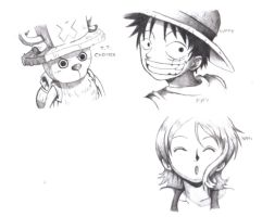 Chopper Luffy e Nami by Angy89