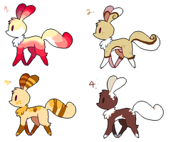 little creature adoptables 2 by Sour-Poffin