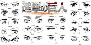 Eye Set - Attack on Titan by Sapphire56