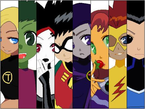 Teen Titans by GreenLeprechaun