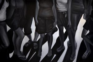 Shadow vs reality, 2012, 120-80cm, oil on canvas by oanaunciuleanu