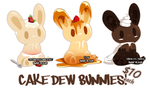 Adopts - Cake Dew Bunnies by binoftrash