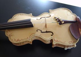 17th Century Model Violin by Hollow-Moon-Art