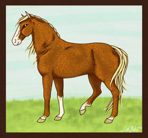 Flaxen Mare by idirae