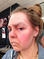 Angry, Old Age Stage Makeup by Coffeedrinkingsquirr