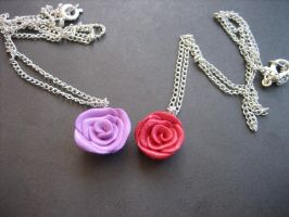 Rose Necklaces by ClayMyDay