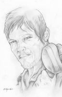 Walking Dead Daryl Dixon Norman Reedus by ChrisOzFulton