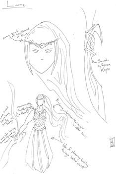 Character Concept - BW Sketch by SpecimenA