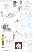 Mega Sketch Dump by HollywoodVoodoo