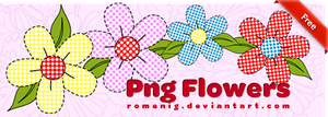 Country Png Flowers by Romenig