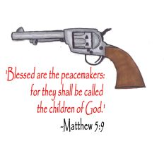 Colt Peacemaker Matthew 5:9 by SpudCreations