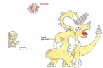 Triceround and Tricerill by WesleyFKMN
