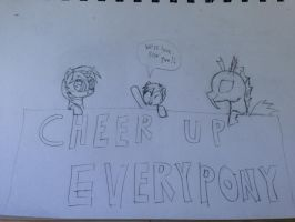 Cheer Up!!! (uncolored) by ProfessionalPuppy