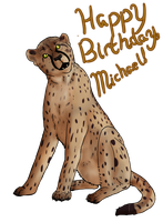 Cheetah For Michael by Mockingbirds-nest