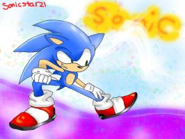 Just sonic by SonicStarz1