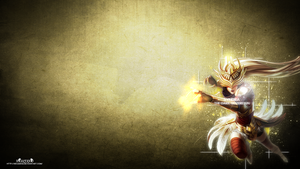 LoL - Justicar Syndra Wallpaper ~xRazerxD by xRazerxD