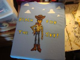 Woody painted on t-Shirt by theOrangeSunflower