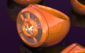 Orange Lantern Ring by JeremyMallin