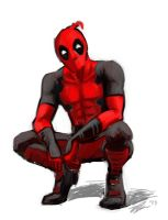 Deadpool Doodle by Hobbitato