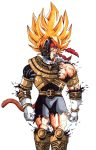 Bardock aka gokus father as the gold Zeo ranger by trunks24