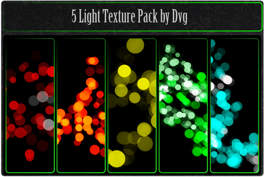 Pack 5 light textures by Dvg by Dvilgabrimhf