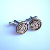 Cuff Links Model Thirty Seven by AMechanicalMind